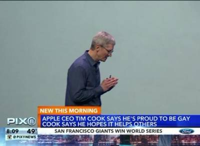 News video: Apple CEO Tim Cook: I'm Proud to Be Gay